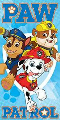 Nickelodeon Paw Patrol Beach Bath Swimming Towel 100% Cotton 70cm x140cm
