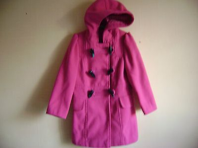 Girls Pink Hooded Duffle Coat From George Fit Age 4-5 Years