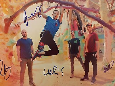 Coldplay Original Hand signed photo 12x8 With COA
