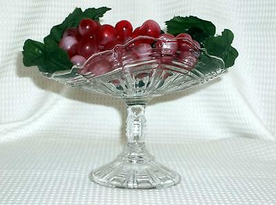 Antique 1900's ? EAGP ? Pressed Glass Stemed Banana / Fruit  Compote