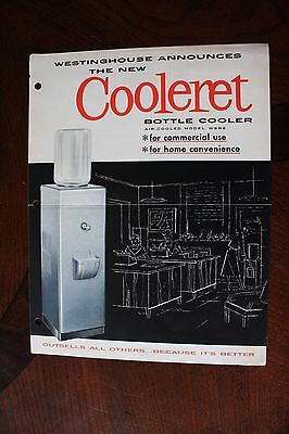 Westinghouse New (1950'S) COOLERET Bottle Water Cooler Ad 4 Pages FREE SHIPPING