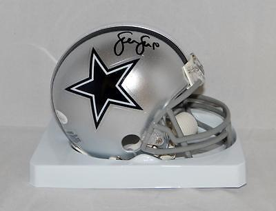 Sean Lee Autographed Dallas Cowboys Mini Helmet- JSA Witnessed Auth