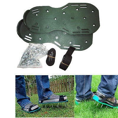 1 Pair of Grass Spiked Gardening Walking Revitalizing Lawn Aerator Sandals Shoes