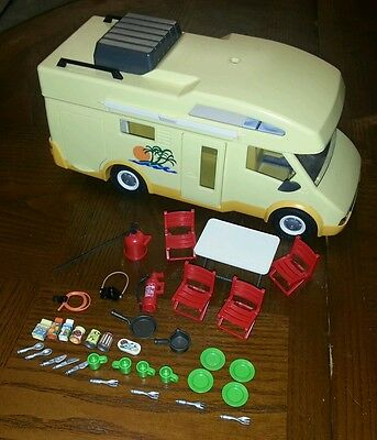 @@@ Playmobil camper van with loads of  accessories @@@
