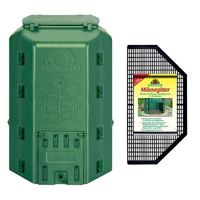 NEUDORFF Thermo Composter DuoTherm 530 Litre + Mouse grid - Thermal Composter