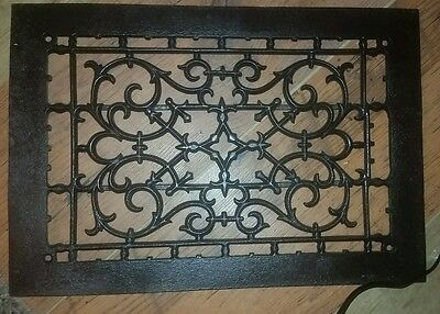 Antique cast iron floor wall grate