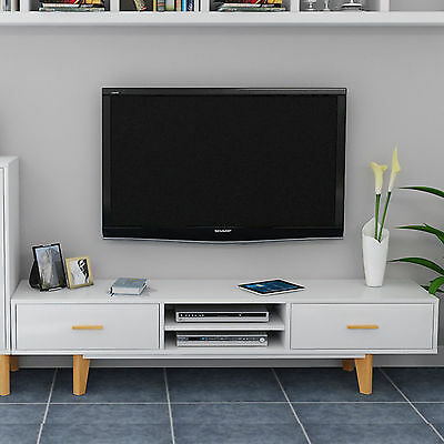 Retro Tv Cabinet White High Gloss Unit Modern Television Stand Sideboard media