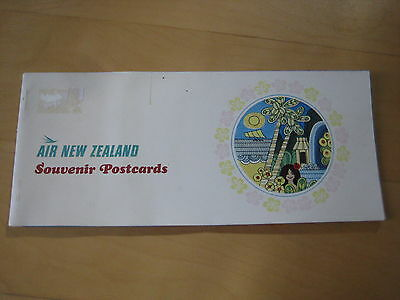 'Air New Zealand',  Souvenir Postcard Booklet.  1960's. 'DC-8'.