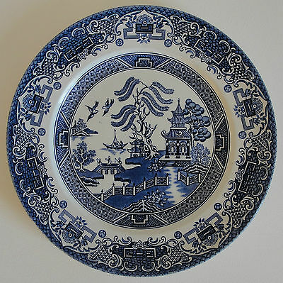 Old Willow Pattern Plate - Staffordshire England