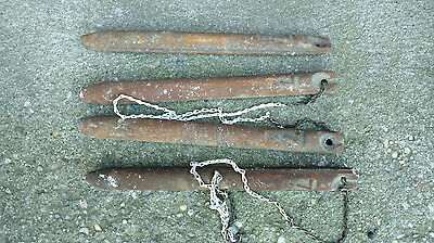 4 Old Cast Iron Window Sash Weight 7 lb 1910's Lot Vintage Antique Brooklyn