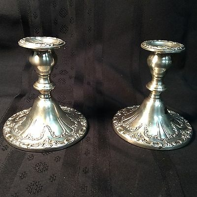 Antique Victorian Gorham candle stick holders; sterling silver; 26.52 ozt.