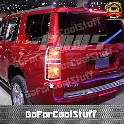 FOR 2015-2017 CHEVY TAHOE 2 Tail Lamp/Light Rear Back Lights Chrome Covers