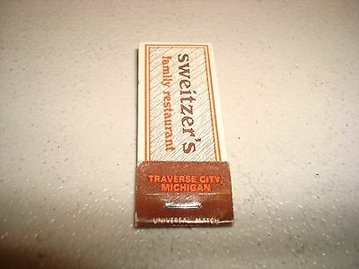 Rare Vintage Matches Sweitzer's By The Bay Traverse City Michigan USA Original!