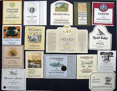 Vintage 1984 Authentic Unused California Wine Labels from Small Family Wineries