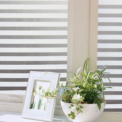 PVC Office Stripe Privacy Window Glass Sticker Self Adhesive Film Frosted Decor