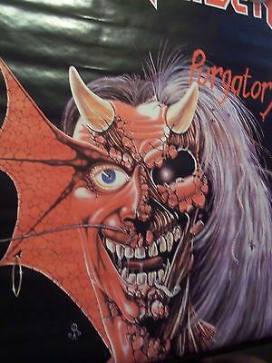 """Iron Maiden Purgatory A Very Rare And Licenced 1984 Poster 21"""" X 26 1/2"""" In Size"""