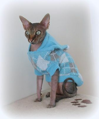 WINTER warm adult cat jumper for a Sphynx  cat, clothes, jumper, sweater