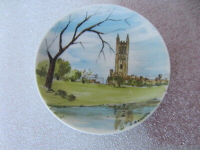 Hand Painted Princeton University plate Graduate College/Cleveland Tower