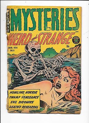 Mysteries Weird and Strange #6 Superior Comic (1954) Missing Back Cover