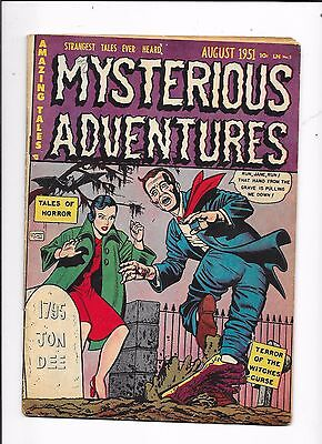Mysterious Adventures #3 Tales of Horror Story Comics (1951)