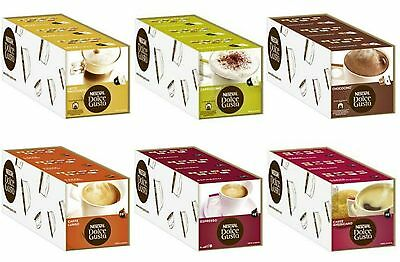 Nescafe Dolce Gusto Coffee Capsules- 3 Boxes Of 16 Pods - Choose From 6 Flavours