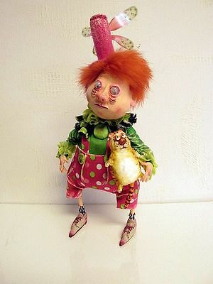"""""""Little Elf with Cat"""" OOAK Art Doll from Marina"""