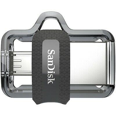 SanDisk 64GB Ultra Dual OTG Micro USB 3.0 Flash Drive Memory Stick Thumb Key