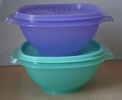Tupperware 2 Classic Servalier Salad  Bowl Container 4 Cup New