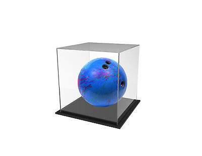 Tenpin Bowling  Ball Deluxe Display Case Acrylic Perspex - BLACK