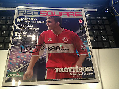 MIDDLESBROUGH Boro UGO EHIOGU  hand SIGNED programme in Person 2005/2006