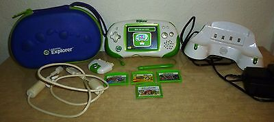 Leapster Explorer System/Console w 4 games, camera, charging station & case