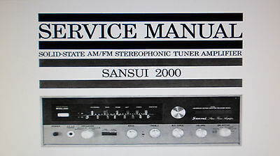 Sansui 2000 Stereo Tuner Amp Service Manual Inc Schematic Printed Bound English