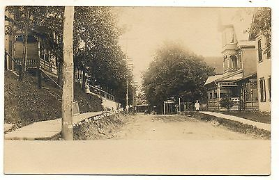 RPPC Main Street MONTGOMERY PA Vintage Lycoming County Real Photo Postcard