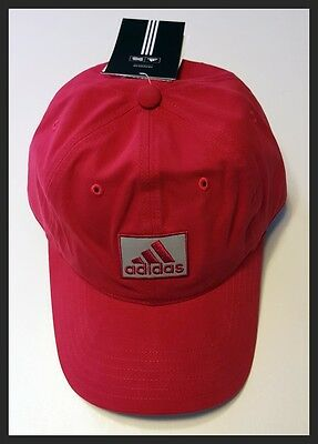 Adidas Adjustable Golf Cap - Deep Red - Brand New - New With Tags