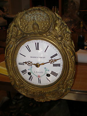 Antique-French-Morbier Clock Movement-Ca.1880-To Restore-#N186