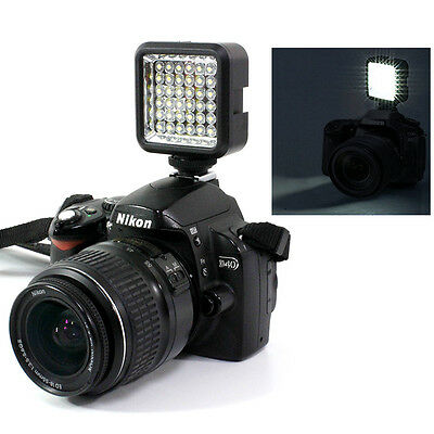 Best light Video Light 36 LED Rechargeable Battery f DV Canon Nikon Camera US #1