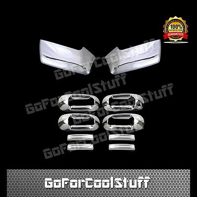 2007-2017 FORD EXPEDITION Chrome Door Handle COVERS W//O PSK+Mirrors