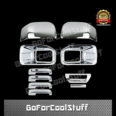 15-16 FORD F150 Fog Lamp 2 Mirror 4 Door Handle 1 Tailgate W/O Cam Chrome Cover