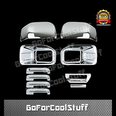 15-16 FORD F150 Fog Lamp Mirrors 4 Door Handles+1 Tailgate W/O Cam Chrome Cover