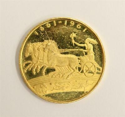 1861-1961 .900 Gold Medal 100th Anniversary of Italian Unification 10.5 grams