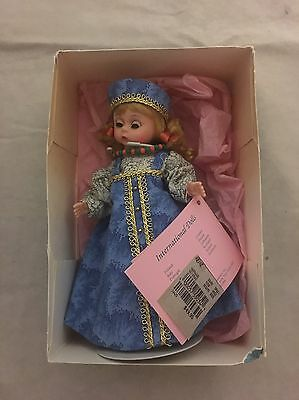 """Madame Alexander 8"""" Doll Russia Blonde Hair Blue Eyes Includes Stand & Box"""