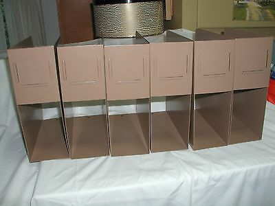 6 Vintage Gaylord Library Magazine/vinyl Record Files / Holders / Racks, Storage