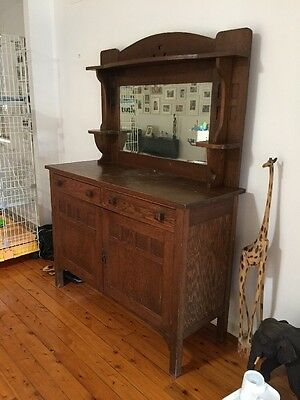Solid Oak Antique Dining Dresser