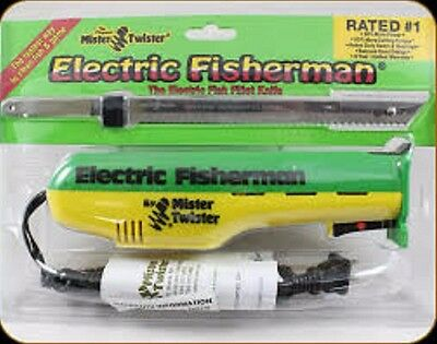 Mister Twister Electric Fish Fillet Knife 120V Green Yellow MT-1201 Brand New
