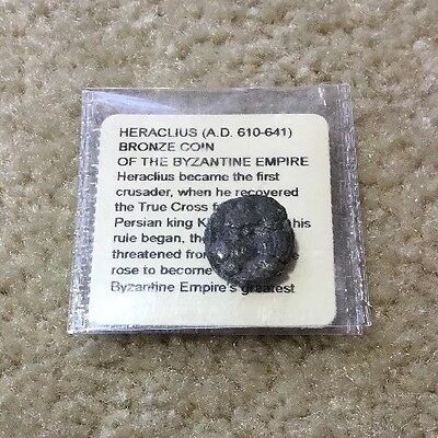 BRONZE  COIN. HERACLIUS OF THE BYZANTINE EMPIRE 610-641 AD Ancient Coin. Antique