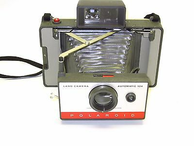 Excellent Polaroid Land 104 Camera & Fresh Film - tested and working!