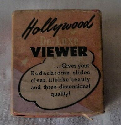 Vintage Hollywood Professional Slide Viewer w/Magnifying Lens in Original Box