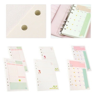 Month Week Ruled Colourful Planner Diary Insert Refill Schedule Organiser A5/A6