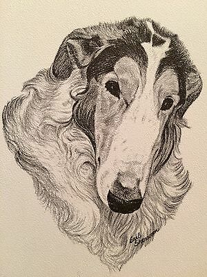 Vintage 1962 Borzoi Dog Portrait Note Cards NIB Earl Sherwan 10 cards