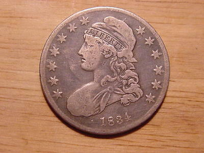 1834 Capped Bust Half Dollar  Small Date Small Letters Variety